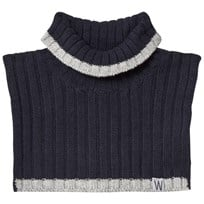 Wheat Knitted Neck Warmer Navy Navy