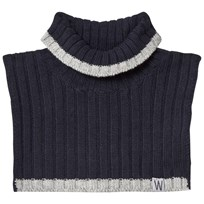 Wheat Knitted Neck Warmer Navy Marinblå