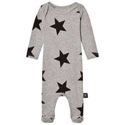 NUNUNU Star Footie Overall Heather Grey