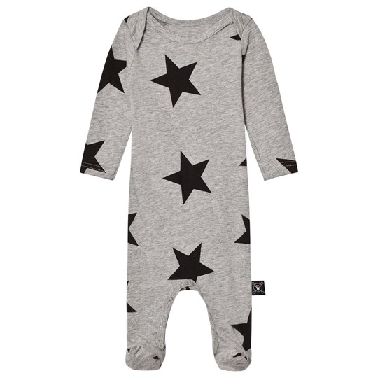NUNUNU Star Footie Overall Heather Grey Heather Grey