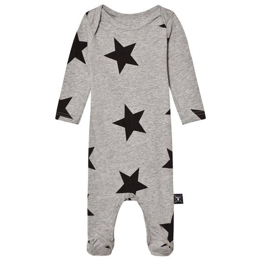 NUNUNU Star Footie Overall Heather Grey Grå