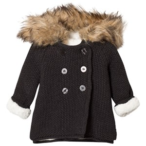Image of The Little Tailor Dark Grey Plush Lined Pixie Faux Fur Trim 6 months (2757000707)