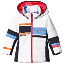 Sportalm White Color Block Hooded Jacket 01 Bright White