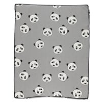 Småfolk Grey Panda Print Baby Changing Mat Wilde Dove-235