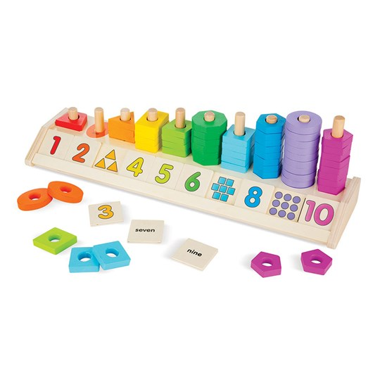 Melissa & Doug Counting Shape Stacker Multi