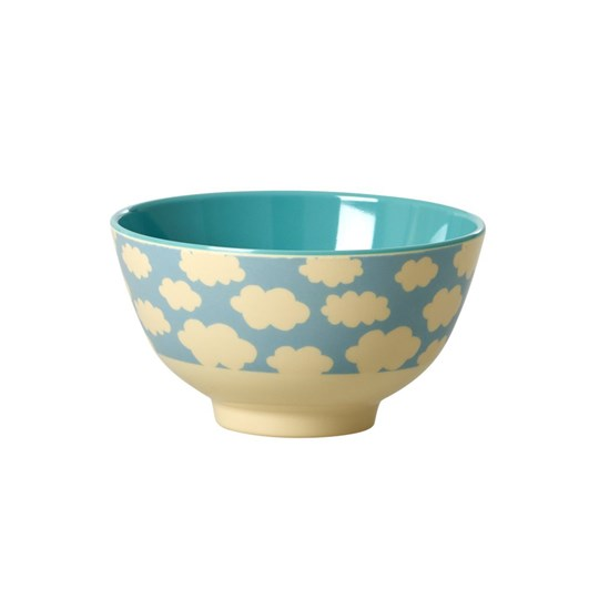 Rice Small Melamine Bowl with Cloud Print Cloud Print