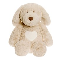 Teddykompaniet Teddy Cream Puppy Small Hvid