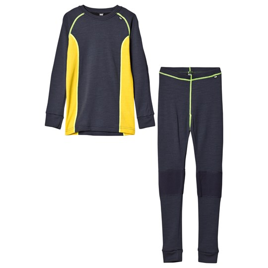 Helly Hansen HH® Lifa Merino Junior Baselayer Set Navy 994 Graphite Blue