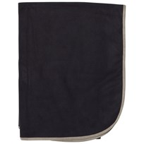 Ver de Terre Double Face Fleece Blanket Navy/Mocca Navy/mocca