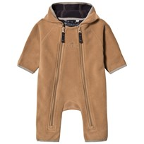 Ver de Terre Double Face Fleece Baby Coverall Hazelnut/Navy Hazelnut/navy