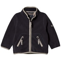 Ver de Terre Double Face Fleece Jacket Navy/Mocca Navy/mocca
