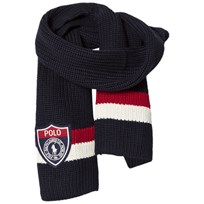 Ralph Lauren Striped Navy/Red Scarf 002