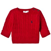 Ralph Lauren Red Cable Knit Sweater 002