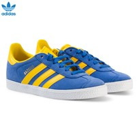 adidas Originals Blue and Yellow Kids Gazelle Trainers BLUE/EQT YELLOW S16/GOLD MET.