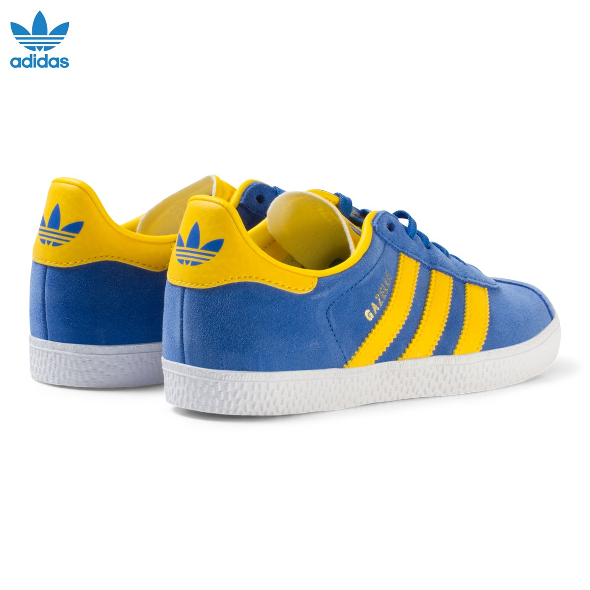 Blue and Yellow Gazelle Kids Trainers