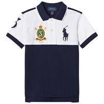 Ralph Lauren White and Navy Short Sleeve Polo 001