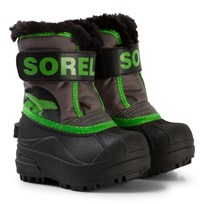Sorel Toddler Snow Commander™ Boots Quarry/Cyber Green Quarry Cyber Grey