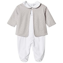 Kissy Kissy Star Print Jacket and Baby Body Set Grey WHSI