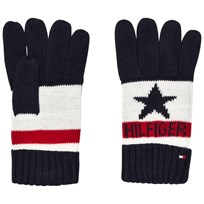 Tommy Hilfiger Navy, White and Red Branded Gloves 901