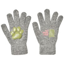 Kattnakken Magic Wool Gloves Grey Gråmelert