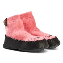 Kattnakken Wool and Leather Moccasins Pink Jordbær