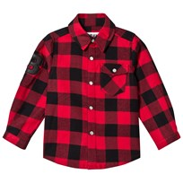 The BRAND Flannel Shirt Red Check Red Chacked Flanell
