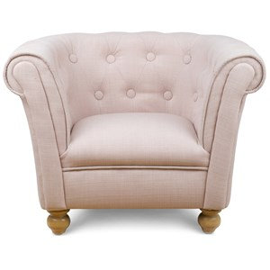 Image of JOX Dusty Pink Chesterfield Chair One Size (825113)