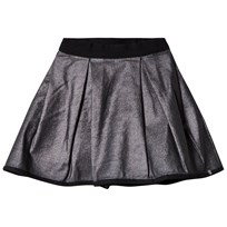 IKKS Silver Metallic Skirt Reversible into Black Satin 02