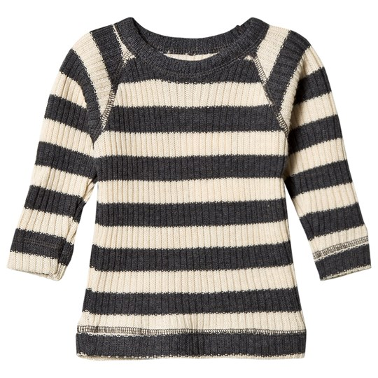 Joha Stripe Knitted Top Cream/Grey Multi