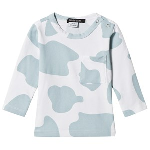 Image of Little LuWi Blue Cow Print T-Shirt 6-9 mdr (975186)