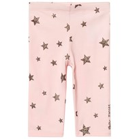 Little Marc Jacobs Pale Pink/Silver Glitter Star Print Leggings 455