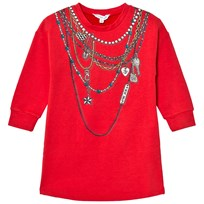 Little Marc Jacobs Red Trompe L´Oeil Print Dress 96E