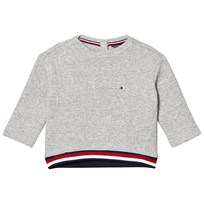 Tommy Hilfiger Grey 3D Branded Jumper 004