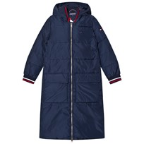 Tommy Hilfiger Navy Branded Longline Padded Coat 431