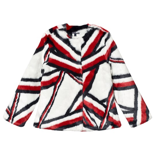 Tommy Hilfiger Global Stripe Faux Fur Jacket 124
