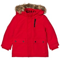 Tommy Hilfiger Red Faux Fur Lined Hood Parka Jacket 697