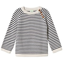 FUB Stripe Sweater Ecru/Navy Ecru/Navy