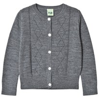 FUB Pointelle Cardigan Grey Grey
