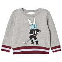 Livly Grey Hockey Bunny Sweatshirt Placement Hockey Bunny
