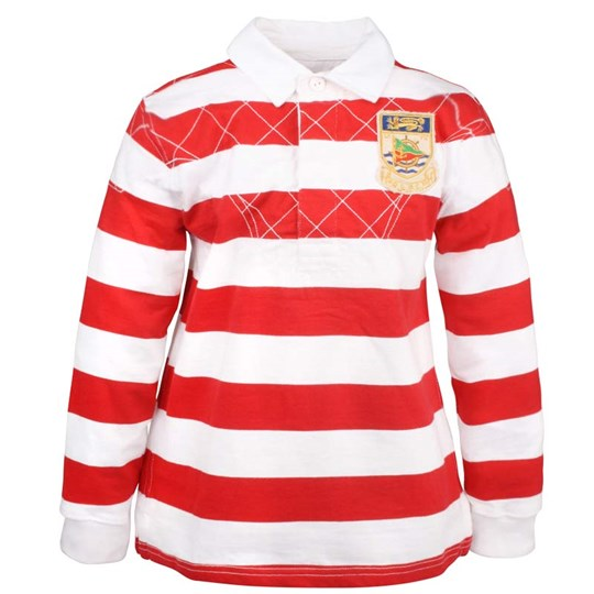Ralph Lauren Rugby Polo Shirt Striped Red Red