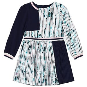 Image of No Added Sugar Lilac and Navy Pleated Long Sleeve Dress 3 years (2758823083)