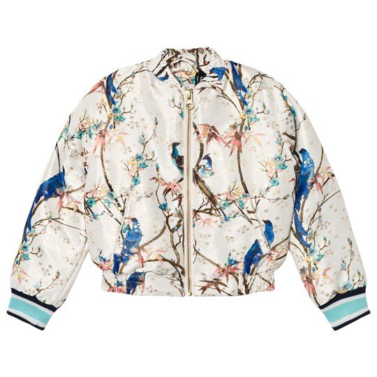 No Added Sugar Peacock Printed Bomber Jacket GUILDED PEACOCK