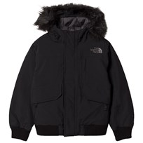 The North Face Black Gotham Down Fur Hooded Jacket JK3 - TNF Black