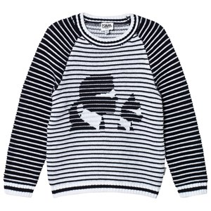 Image of Karl Lagerfeld Kids Knitted Karl and Choupette Sweater 10 years (2758824281)