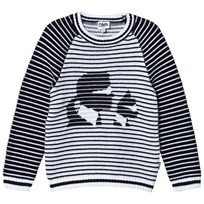 Karl Lagerfeld Kids Knitted Karl and Choupette Sweater N50