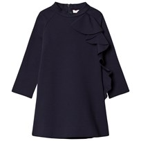 Il Gufo Navy Frill Detail Milano Dress 497