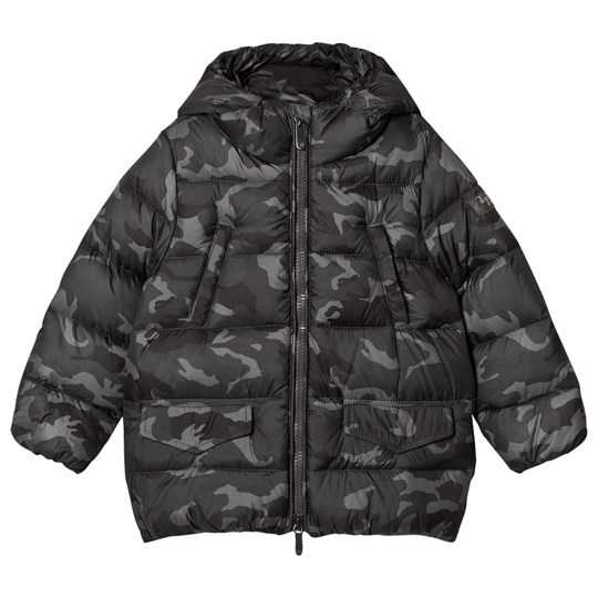 Il Gufo Camo Down Filled Hooded Coat 593