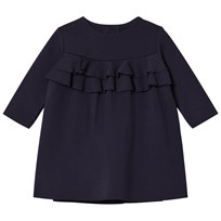 Il Gufo Navy Milano Frill Front Dress 497