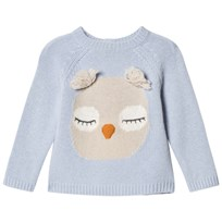Il Gufo Pale Blue Owl Jumper 416