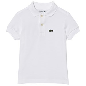 Image of Lacoste White Classic Pique Polo 10 years (985021)